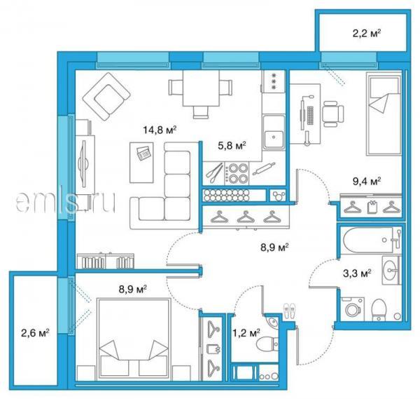 Квартиры -двухкомнатные квартиры - новостройки санкт-петерб.